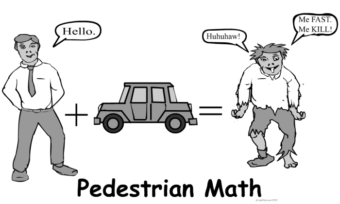 pedestrian math